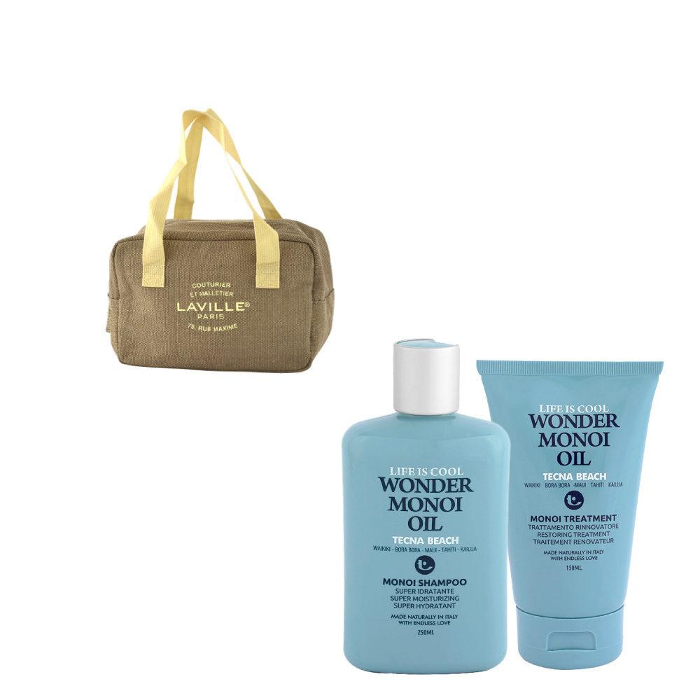 Tecna Beach Wonder Monoi kit Shampoo 250ml Treatment 150ml free cool bag