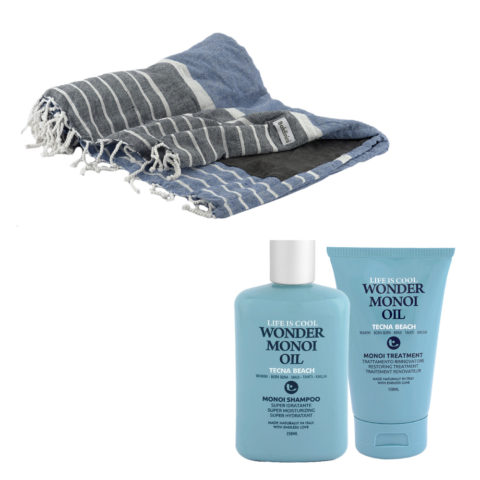 Tecna Beach Wonder Monoi kit Shampoo 250ml Treatment 150ml + free beach towel Baldinini