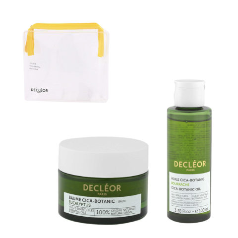 Decléor Body Care Cica-Botanic Kit Baume Eucalyptus 50ml Huile 100ml - free clutch bag