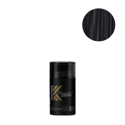 Tricomix Fibre Black 12gr - Volumizing Keratin Fibers With Anti Hair Loss Principles