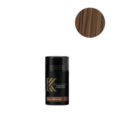 Tricomix Fibre Medium Brown 12gr - Volumizing Keratin Fibers With Anti Hair Loss Principles