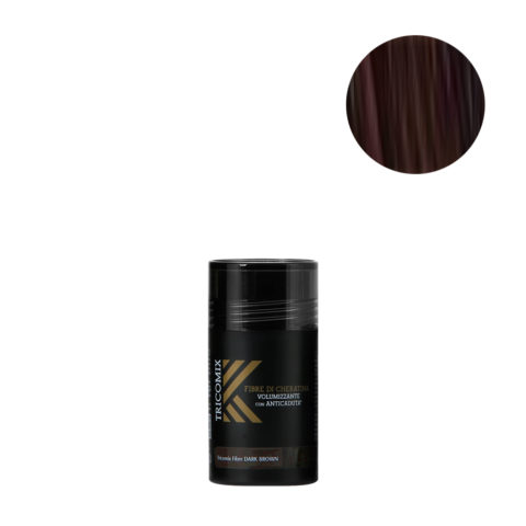 Tricomix Fibre Dark Brown 12gr - Volumizing Keratin Fibers With Anti Hair Loss Principles