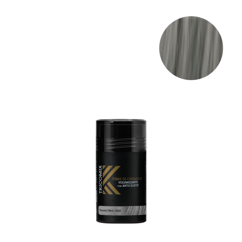 Tricomix Fibre Gray 12gr - Volumizing Keratin Fibers With Anti Hair Loss Principles