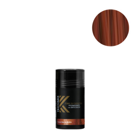 Tricomix Fibre Auburn 12gr - Volumizing Keratin Fibers With Anti Hair Loss Principles