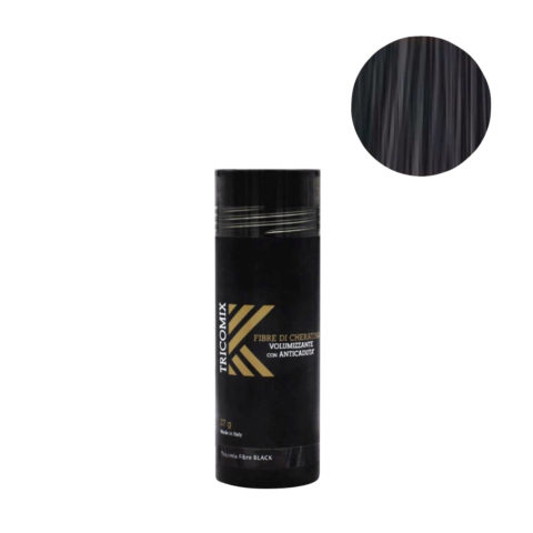 Tricomix Fibre Black 27gr - Volumizing Keratin Fibers With Anti Hair Loss Principles