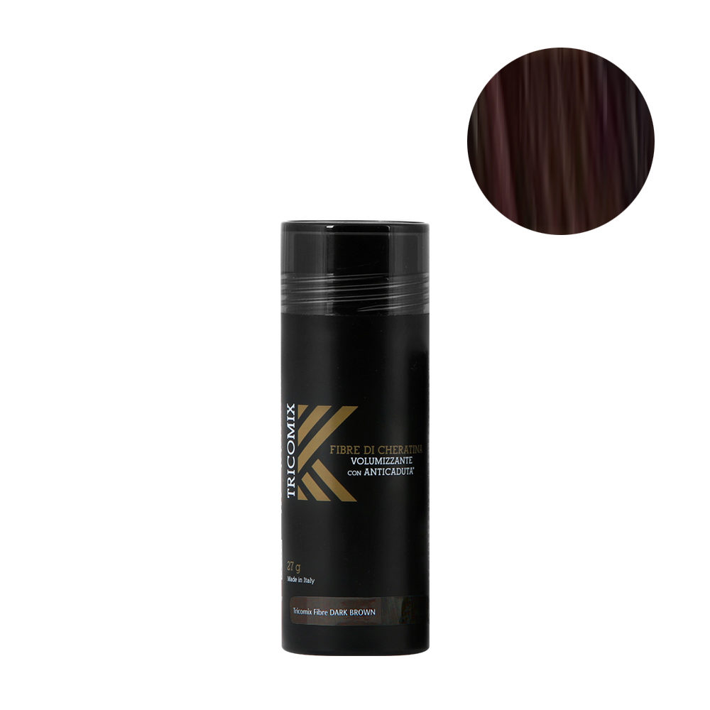Tricomix Fibre Dark Brown 27gr - Volumizing Keratin Fibers With Anti Hair Loss Principles