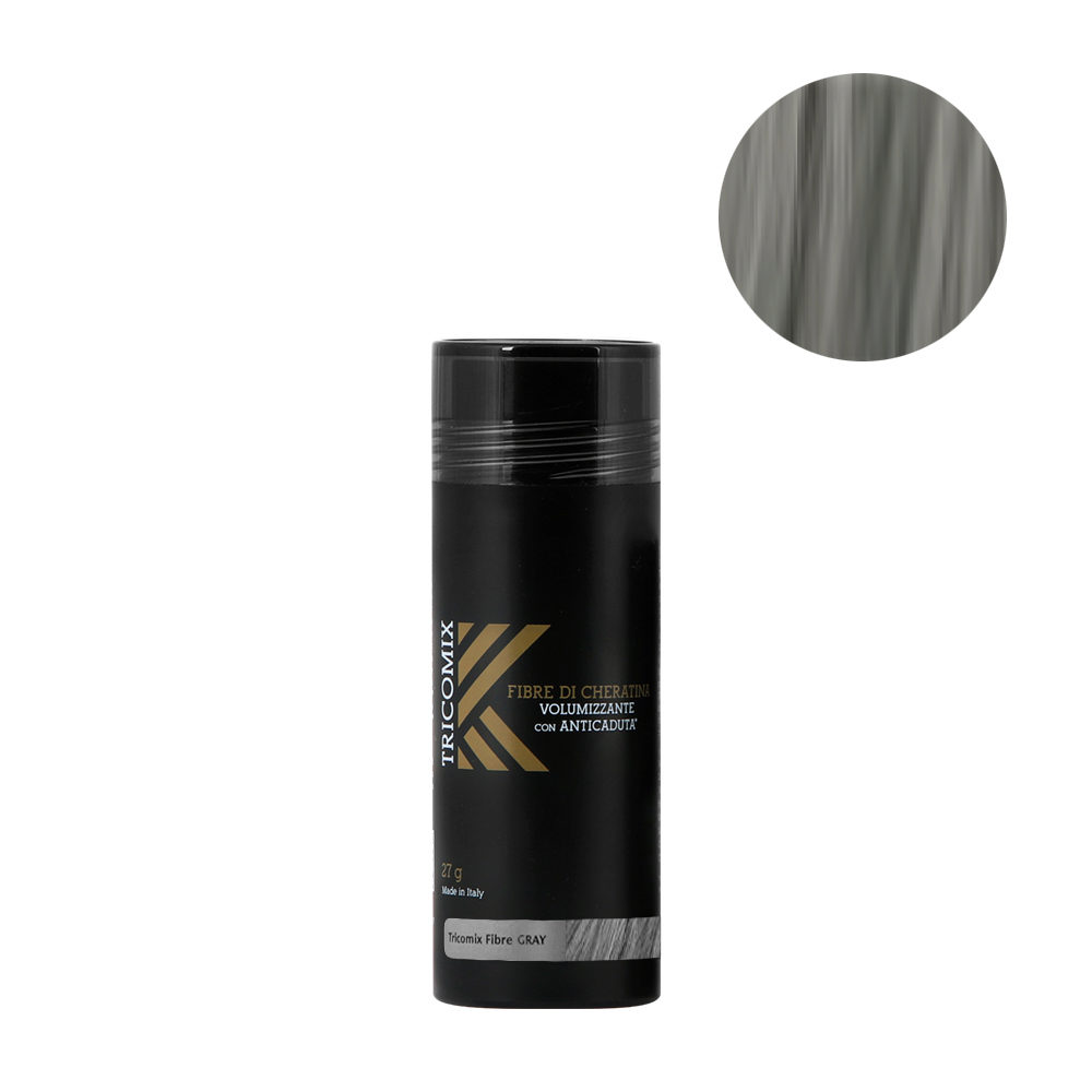 Tricomix Fibre Gray 27gr - Volumizing Keratin Fibers With Anti Hair Loss Principles