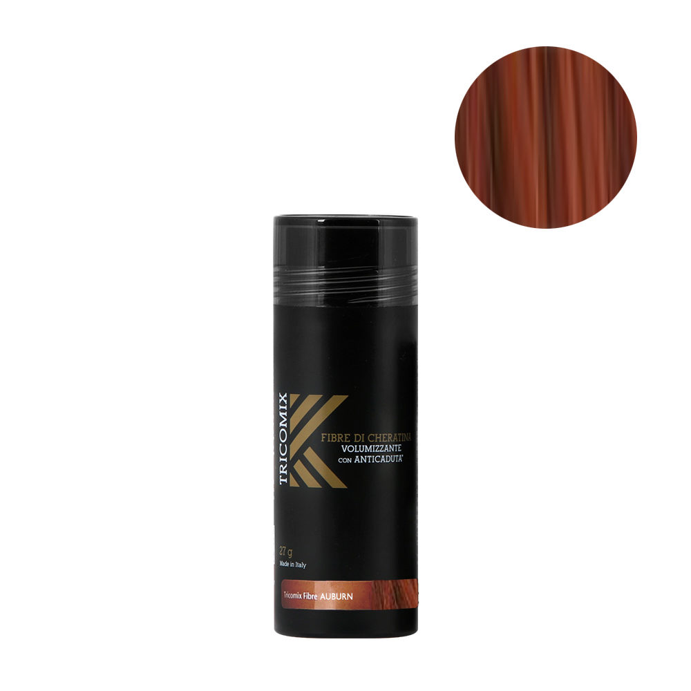 Tricomix Fibre Auburn 27gr - Volumizing Keratin Fibers With Anti Hair Loss Principles