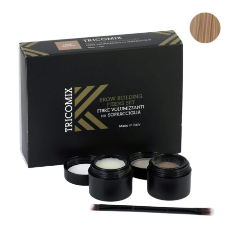 Tricomix Brow Light Brown 1,2g + 2g - Volumizing Keratin Fibers for Eyebrows