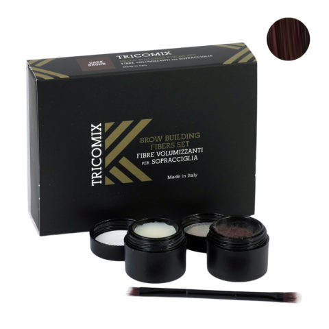 Tricomix Brow Dark Brown 1,2g + 2g - Volumizing Keratin Fibers for Eyebrows