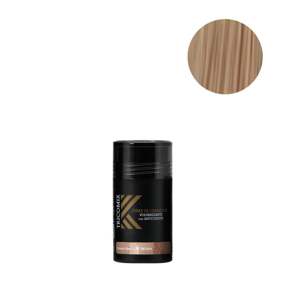 Tricomix Fibre Light Brown 12gr - Volumizing Keratin Fibers With Anti Hair Loss Principles