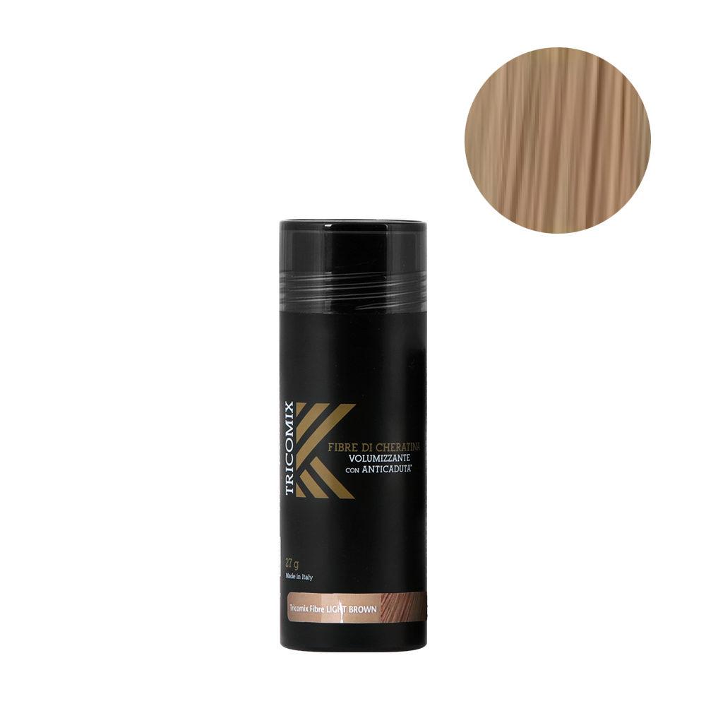 Tricomix Fibre Light Brown 27gr - Volumizing Keratin Fibers With Anti Hair Loss Principles