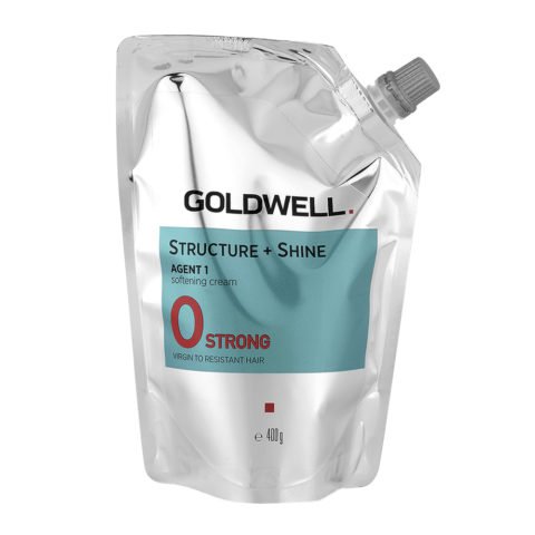 Goldwell Structure + Shine Agent 1 Softening Cream 0 Strong 400gr - Straightening For Resistant Hair