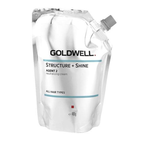 Goldwell Structure + Shine Agent 2 Neutralizing Cream 400gr - Straightening Stabilizer