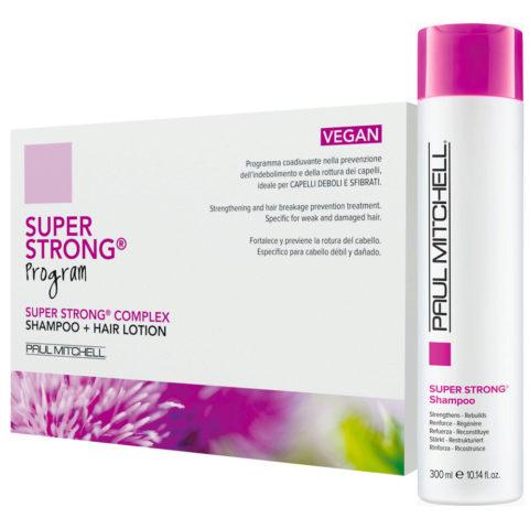 Paul Mitchell Super strong Program Hair Lotion Vegan 12x6ml Shampoo 300ml