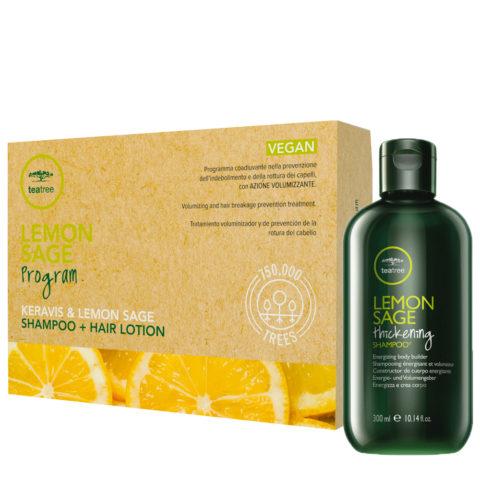 Paul Mitchell Tea Tree Lemon Sage Program Shampoo 300ml + Hair Lotion 12x6ml
