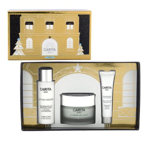 Carita Skincare Lagon Kit La Creme Lagon 50ml + Lotion Nacree 50ml + Masque Biologique 15ml - Dry And Dehydrated Skin