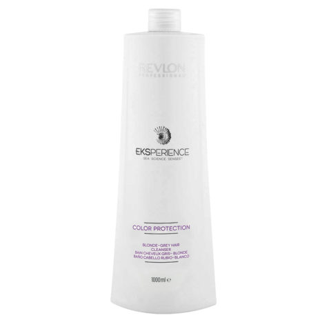 Eksperience Color Protection Blonde Grey Shampoo 1000ml - For Blond, Gray Or White Hair