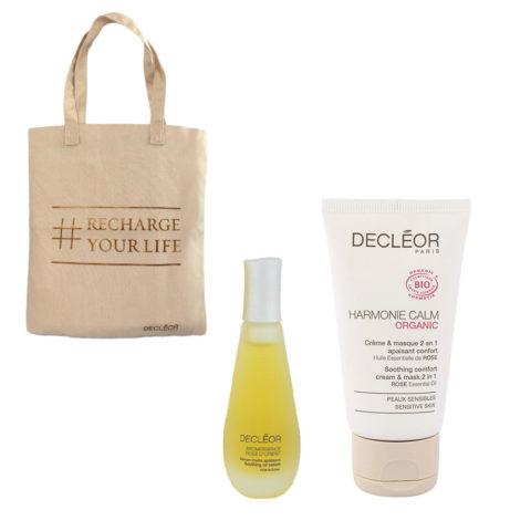 Decléor Aromessence Rose d'Orient Kit Sérum-huile 15ml Harmonie Calm Creme & masque 50ml - free bag