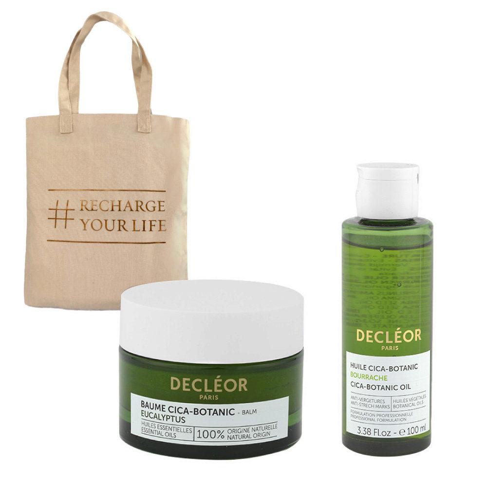 Decléor Body Care Cica-Botanic Kit Baume Eucalyptus 50ml Huile 100ml - free bag