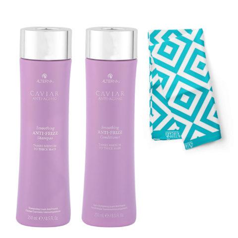 Alterna Caviar Smoothing Anti Frizz Kit Shampoo 250ml Conditioner 250ml - Free Pareo