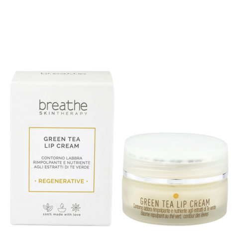 Naturalmente Breathe Regenerative Green Tea Lip Cream 15ml - Anti - Wrinkles Lip Balm