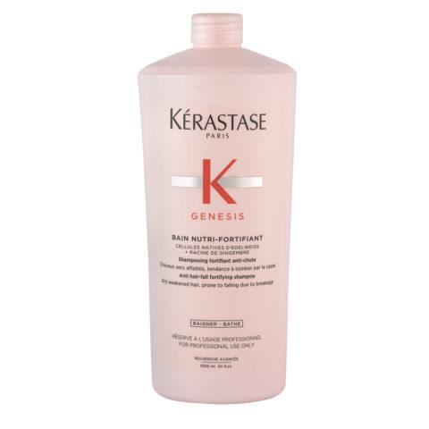 Kerastase Genesis Bain Nutri Fortifiant 1000ml - antihairloss shampoo for weakened and dry hair
