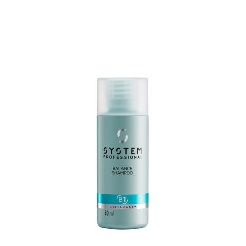 System Professional Balance Shampoo B1, 50ml - Sensitive Scalp Shampoo