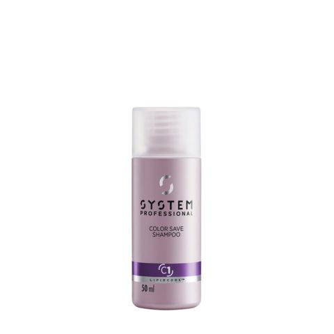 System Professional Color Save Shampoo C1, 50ml - Coloured hair Shampoo