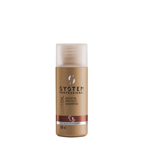 System Professional LuxeOil Shampoo L1, 50ml - Keratin Shampoo Damaged hair