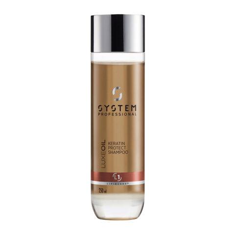 System Professional LuxeOil Shampoo L1, 250ml - Keratin Shampoo Damaged hair