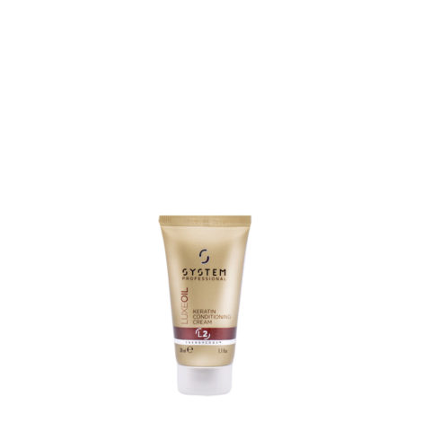 System Professional LuxeOil Conditioning Cream L2, 30ml - Keratin Conditioner Damaged hair