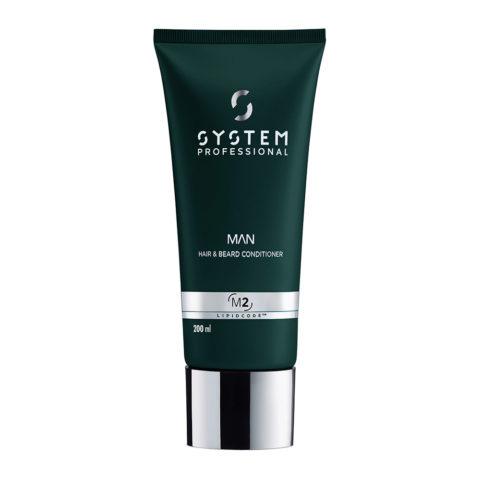 System Professional Man Hair & Beard Conditioner M2, 200ml - Hair & Beard Conditioner