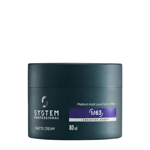 System Professional Man Matte Cream M63, 80ml - Medium Hold