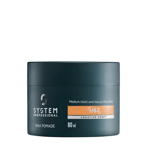 System Professional Man Wax Pomade M62, 80ml - Medium Hold