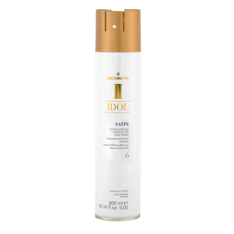 Medavita Idol Styling Satin Extra Strong Shaper Dry Hairspray 6,  300ml