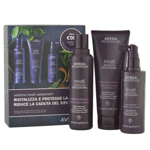 Aveda Invati Advanced Antihairloss Kit and Shampoo Free