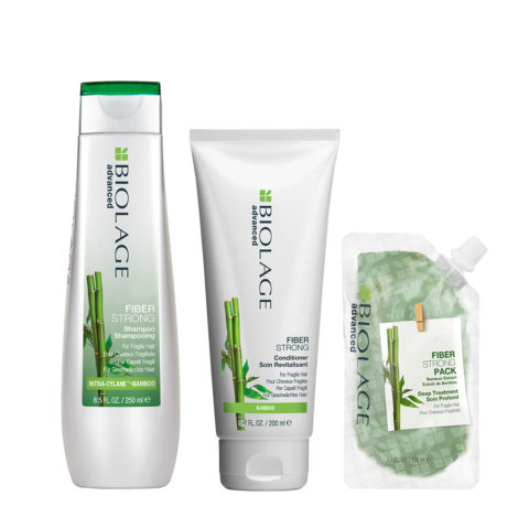 Biolage Fiberstrong Shampoo 250ml e Conditioner 200ml e Mask 100ml