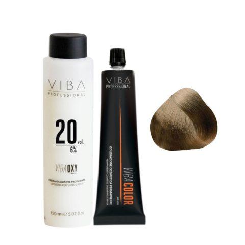 Viba Professional Kit Color 6 Dark Blonde and Developer 20 vol