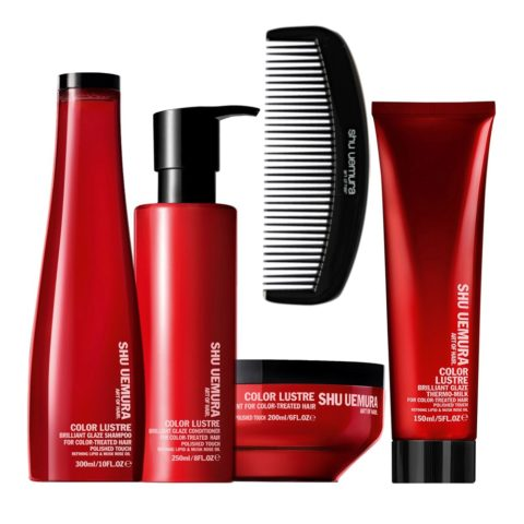 Shu Uemura Color lustre kit shampoo 300ml conditioner 250ml masque 200ml thermo-millk 150ml