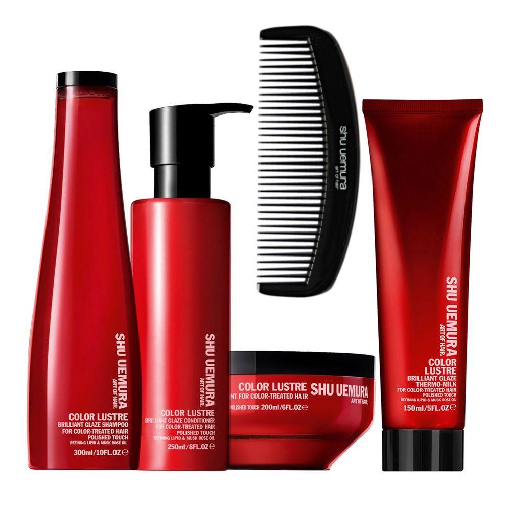 Shu Uemura Color lustre kit shampoo 300ml conditioner 250ml masque 200ml thermo-millk 150ml