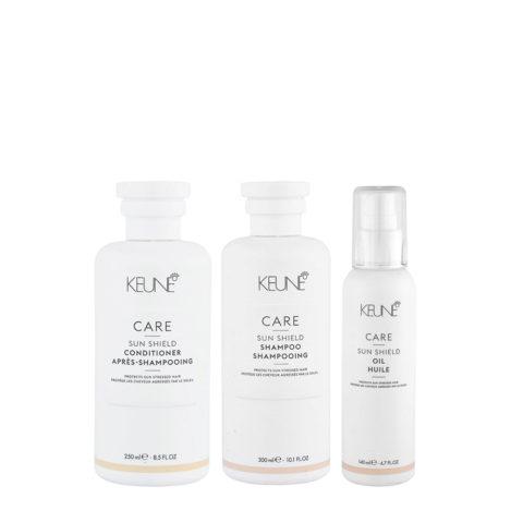 Keune Care Line Sun Shield Shampoo 300ml Conditioner 250ml Oil 140ml