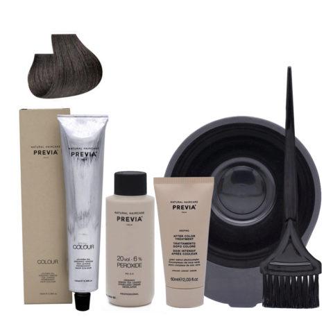 Previa Color Do It Yourself Kit 4.01 Medium Natural Ash Brown