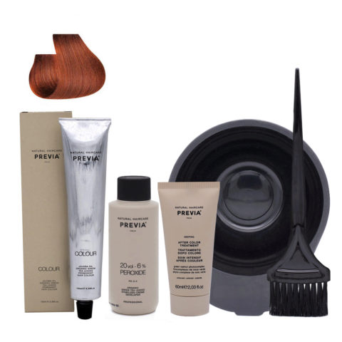 Previa Color Do It Yourself Kit 7.34 Medium Copper Golden Blonde
