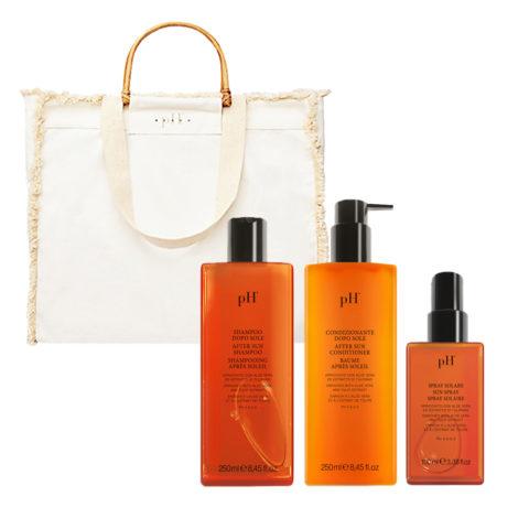 PH Laboratories Kit Sun Shampoo 250ml Conditioner 250ml Spray 100ml Free Gift Bag