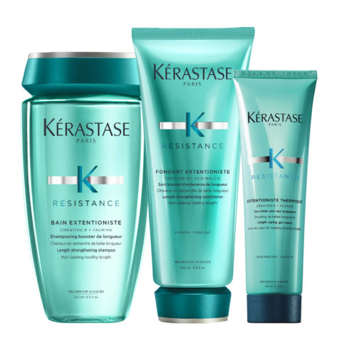 Kerastase Résistance Extentioniste Shampoo 250ml Conditioner 200ml Cream Gel Heat Protection 150ml