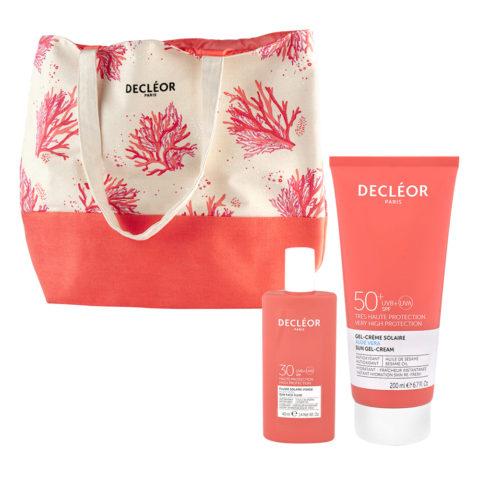 Decléor Sun Face Fluid SPF30, 40ml and Sun Gel Body Cream SPF50+, 200ml