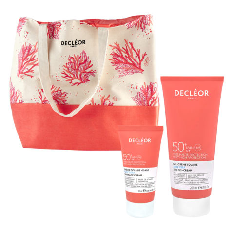 Decléor Sun Face Fluid SPF50+, 50ml and Sun Gel Body Cream SPF50+, 200ml