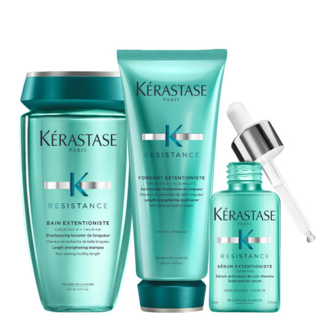 Kerastase Résistance Extentioniste Bain 250ml Conditioner 200ml Serum 50ml