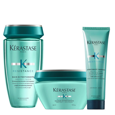 Kerastase Résistance Extentioniste Shampoo 250ml Mask 200ml Cream Gel Heat Protection 150ml